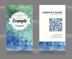 business card template with qr code stock vector art 462595291