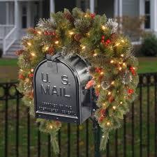 christmas mailbox swag wayfair