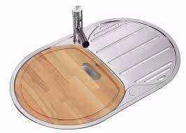 Polished Inset Reversible Round Stainless Steel Kitchen Sink - Round kitchen sink and drainer