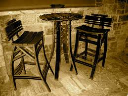 solid wood pub table rustic black wooden pub table with curved seat solid wood chairs of