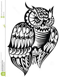 black and white owl designs owl design stock vector