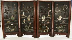 asian room dividers chinese 6panel folding screen dividers gold leaf plum blossom