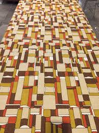 Home Decor Weight Fabric by Groovy 60s 70s Abstract Geometric Panton Era Fabric Linen