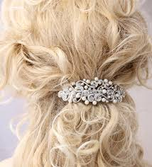 barrette clip pearl hair barrette bridal wedding hair accessory