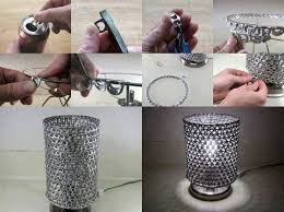 diy unique lamp by using soda can tabs home design garden