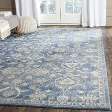 4 X 5 Kitchen Rug Amazon Com Safavieh Sofia Collection Sof386c Vintage Blue And