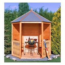 shire gazebo arbour garden structures from garden store direct uk