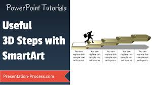 how to create 3d steps with smartart smartart secrets youtube