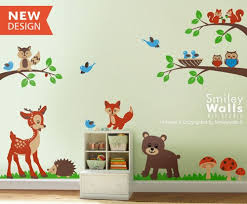 Animal Wall Decals For Nursery Forest Woodland Animals Wall Decal Nursery Baby Room