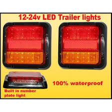 led trailer tail lights led waterproof truck trailer tail stop turn brake lights