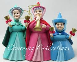grolier three fairies ornament sleeping beauty disney scholastic