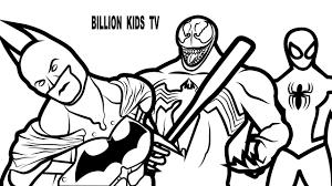 spiderman venom batman coloring pages coloring book kids fun