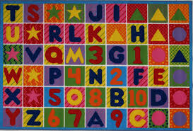 Kid Rug by Amazon Com La Rug Numbers U0026 Letters Rug 5 U00273