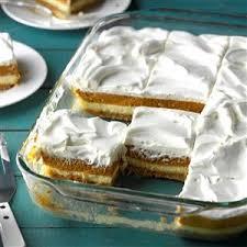 layered pumpkin dessert recipe taste of home