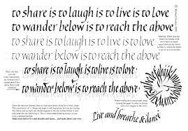 italic minuscules sentences richard crookes calligraphy