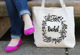 personalized bags for bridesmaids custom floral tote bag monogrammed bag personalized tote bag