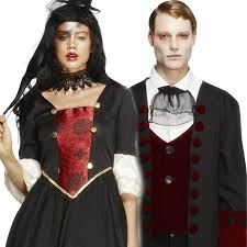 gothic halloween costumes ladies men gothic vampire fancy dress halloween costume