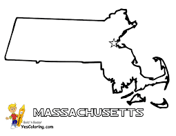 Printable Blank Map Of The United States by Massachusetts Map To Print Out At Yescoloring Com Free Usa