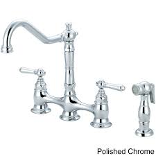 overstock kitchen faucets pioneer americana series two handle bridge kitchen faucet with