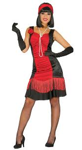 ladies red black flapper fancy dress costume fancy me limited