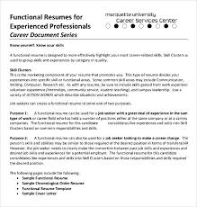 Chronological Order Resume Template Functional Cv Template Accounting Cv Sample 9 Functional