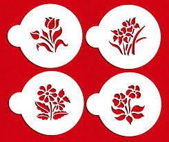 amazon com small botanical flowers cookie stencils by designer