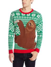 blizzard men u0027s sloth hug ugly christmas sweater at amazon