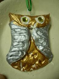 artventurous clay owl ornaments