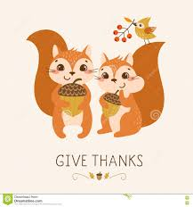 funny animal thanksgiving pictures cute thanksgiving squirrels stock vector image 77829112