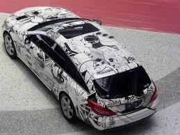pixel art car file the bird u0027s eye view of mercedes benz cls350 shooting brake