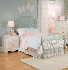 amazon com standard furniture spring rose metal kids bed in white