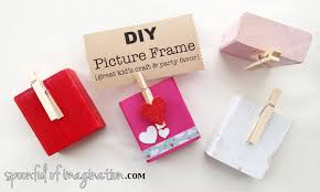 kid u0027s picture frame diy craft u0026 party favor spoonful of imagination