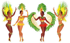 carnival brazil costumes set samba dancer vector beautiful carnival girl wearing a