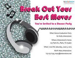 headphones dance party invitation misc pinterest party