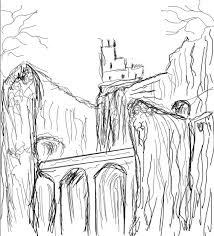 how to create a dark mysterious hideout from a rough sketch