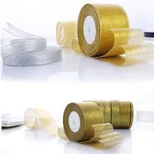 gold satin ribbon 25yard 6mm 25mm 30mm 40mm 50mm organza gold silver glitter satin