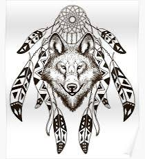 wolf dreamcatcher posters redbubble