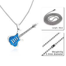 stainless steel guitar necklace images Trendy stainless steel punk rock guitar pendant necklace with jpg