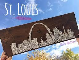 Mizzou Home Decor String Art St Louis Missouri Gateway Arch City Skyline