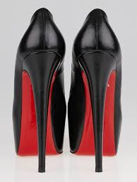 christian louboutin black leather daffodile 160 pumps size 6 5 37