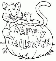 cute halloween gif cute halloween coloring pages with cat pumpkin archives gobel