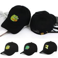 Sad Meme Frog - buyincoins sad kermit cap frog pepe feels bad man embroidery sun