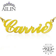 customized name necklace gold personalized name necklace gold color silver initials carrie
