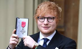 Ed Sheeran Ed Sheeran Royal As He Received Mbe From Prince Charles