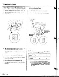 wipers honda civic 1997 6 g workshop manual