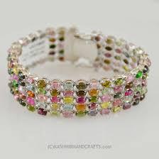 multi color stone bracelet images Tourmaline sterling silver bracelet multi color rainbow kashmir jpg