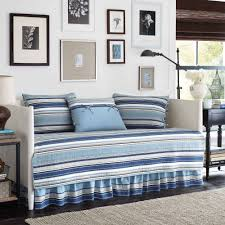 Daybed Comforter Set Stone Cottage Fresno 5 Piece Daybed Bedding Set Blue Walmart Com
