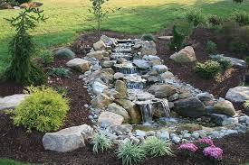 Waterfall Design Ideas Lawn U0026 Garden Breathtaking Backyard Waterfall Design With