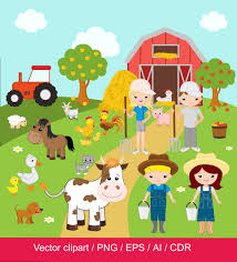 farm graphics etsy farm clipart digital clip art barnyard animals domestic for commercial use png eps