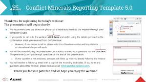 conflict minerals reporting template conflict minerals reporting template 5 0